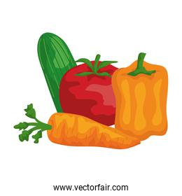 fresh vegetables healthy food icons