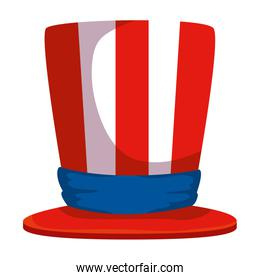 tophat with united states of america flag