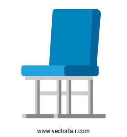 waiting room chair isolated icon