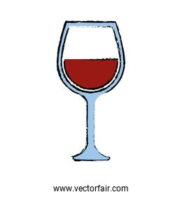Wine cup isolated