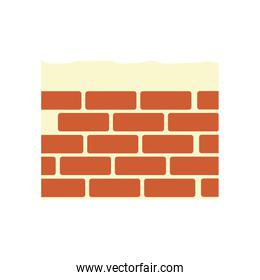 Construction brick isolated