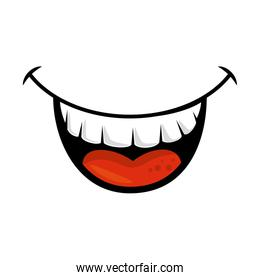 comic face smiling icon