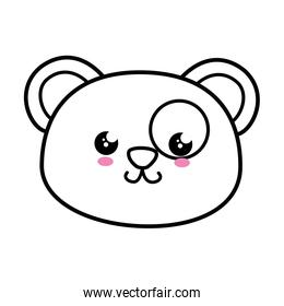 Panda kawaii cartoon