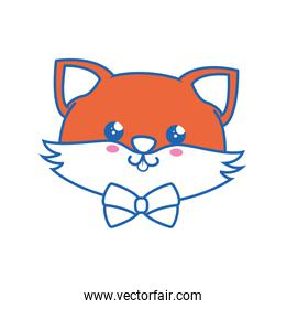 Fox kawaii cartoon