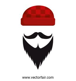winter hat with mustache and beard hipster style icon