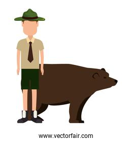 Canadian Ranger with bear