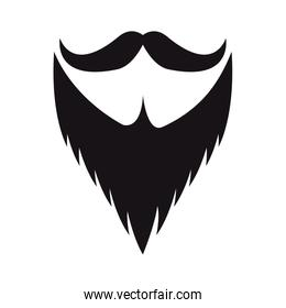 mustache and beard hipster style