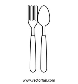 fork and spoon cutlery