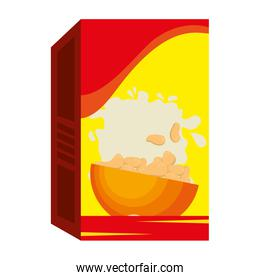 cereal box packing icon