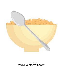 cereal dish with spoon