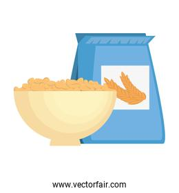 cereal dish with bag