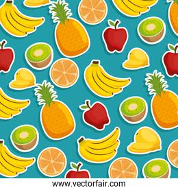 fresh fruits pattern background