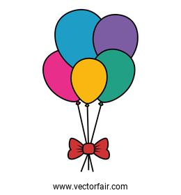 balloons helium floating with bow