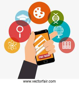electronic learning with smartphone