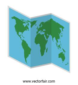 map paper isolated icon