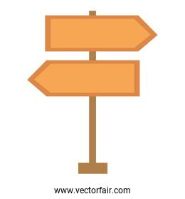 route wooden arrows signal