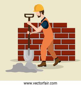 construction worker with under construction icons