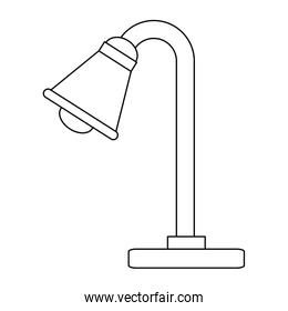 desk lamp isolated icon
