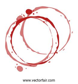 circular watermark paint wine