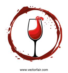 wine cups silhouettes icon