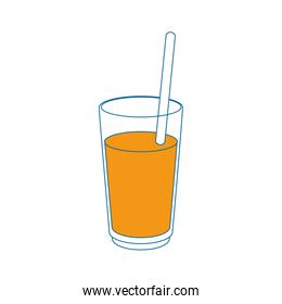 Juice in glass cup
