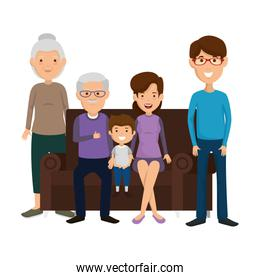 family members in the sofa characters