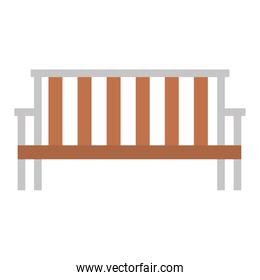 park wooden chair icon