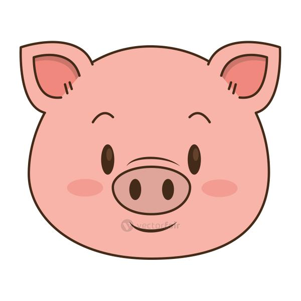 cute and adorable piggy character