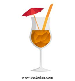 tropical cocktail cup icon