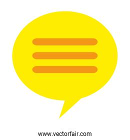icon of yellow message bubble