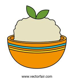 kitchen bowl with mashed potatoes