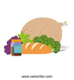 chicken meat and healthy food