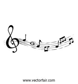musical partiture notes icons
