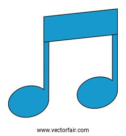 musical note isolated icon