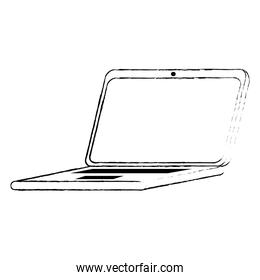 laptop computer isolated icon