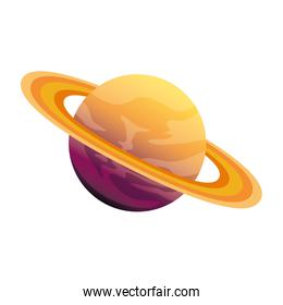 universe planet saturn space icon
