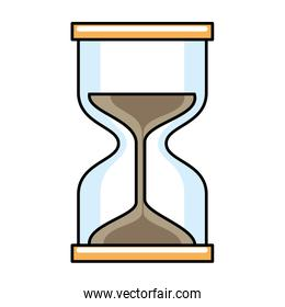timer hourglass isolated icon
