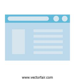 webpage template icon isolated