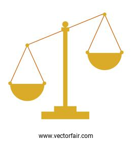 justice scale isolated icon