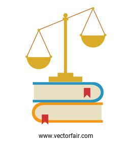 pile text books with balance