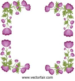decorative frame of flowers icon