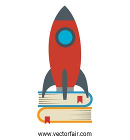 rocket start up with books
