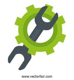 wrench tool with gear