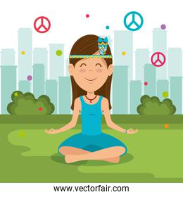 woman hippie lifestyle characters