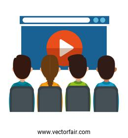 class with media player in display