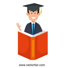 student graduated with book