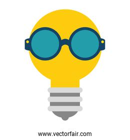 bulb light with glasses