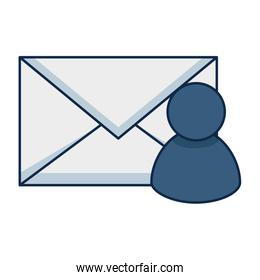 envelope mail with user profile