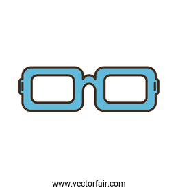 isolated blue glasses icon