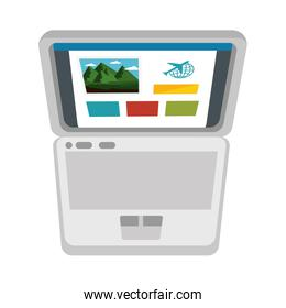 laptop and tourist information